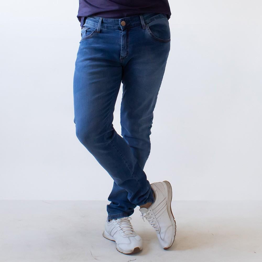 Calça Skinny Masculina Jeans Azul Denim Anticorpus