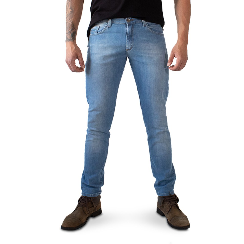 Calça Skinny Masculina Jeans Claro Básica Anticorpus