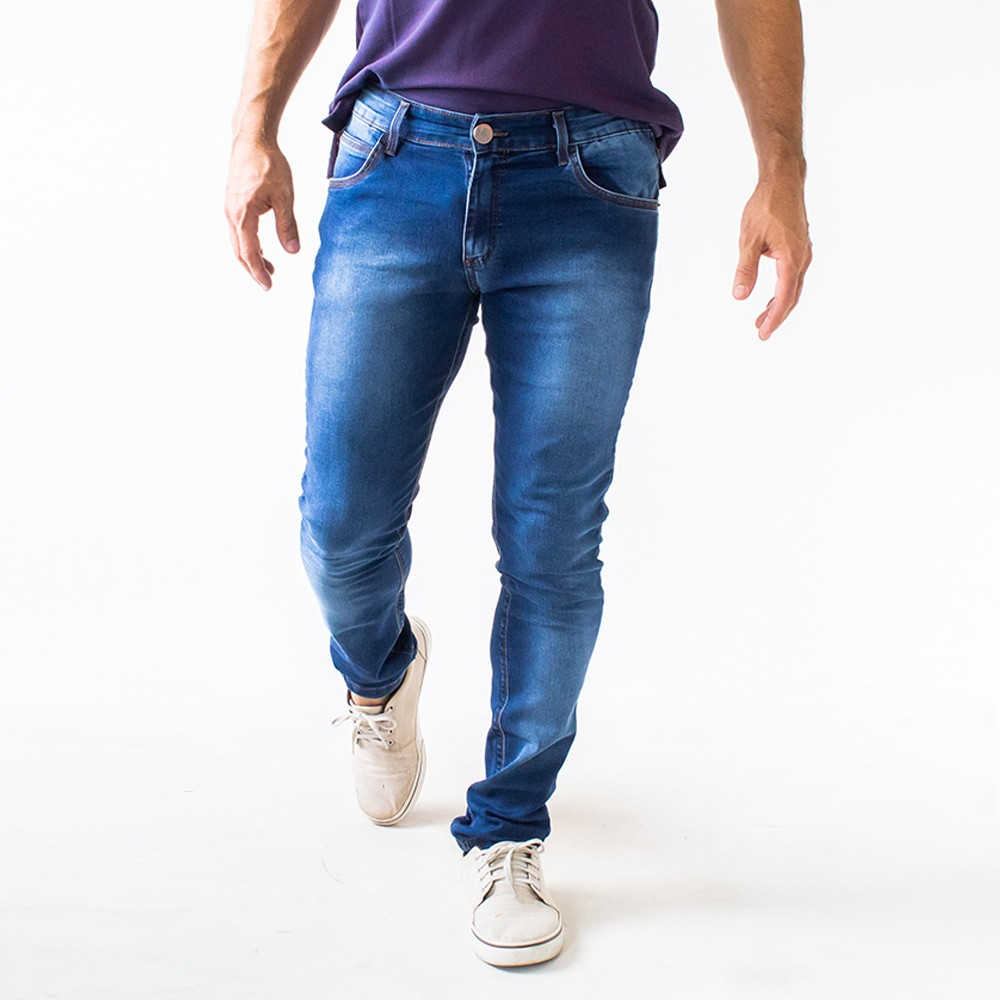 Calça Skinny Masculina Jeans Stretch Denim Anticorpus