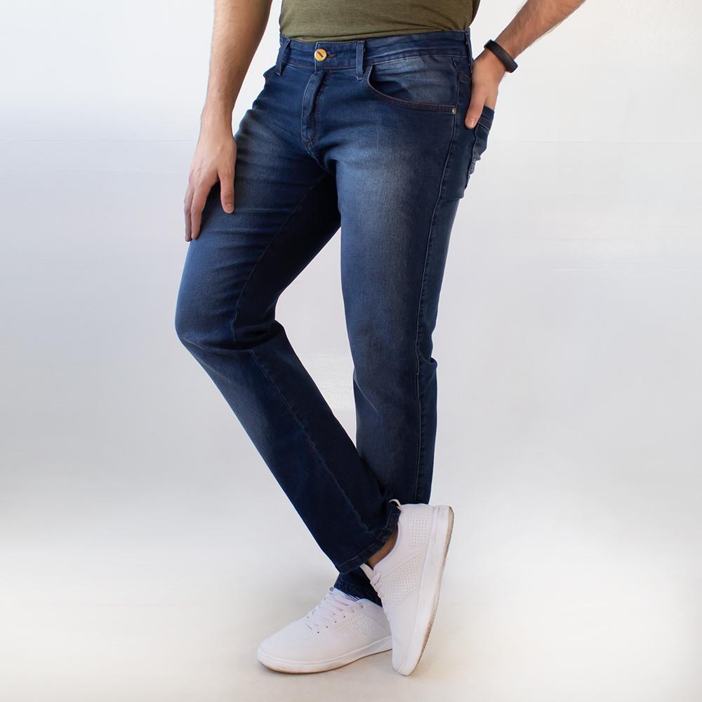 Calça Slim Jeans Azul Escuro Masculina Anticorpus