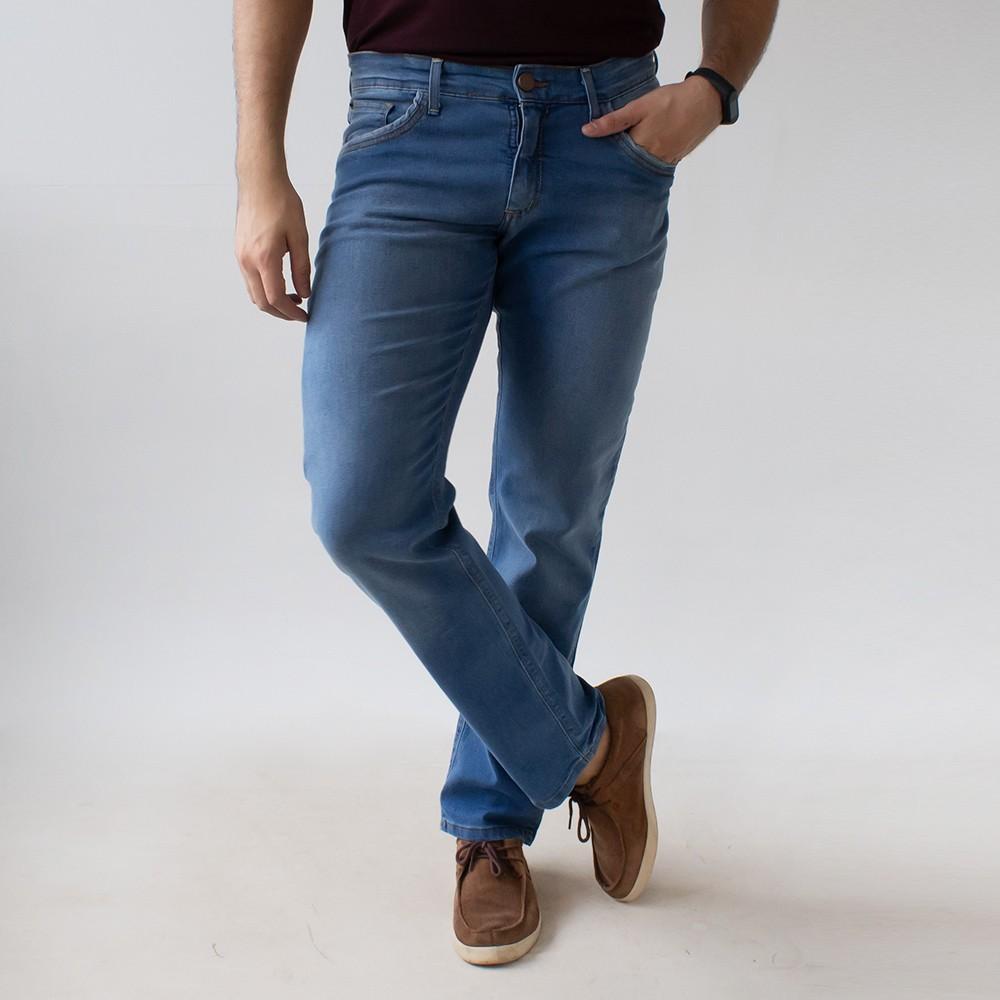 Calça Slim Masculina Jeans Claro Anticorpus