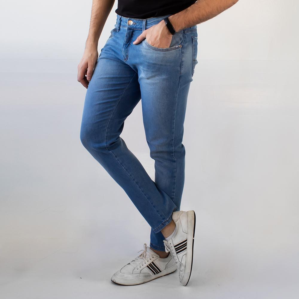 Calça Super Skinny Masculina Jeans Claro Strech Anticorpus