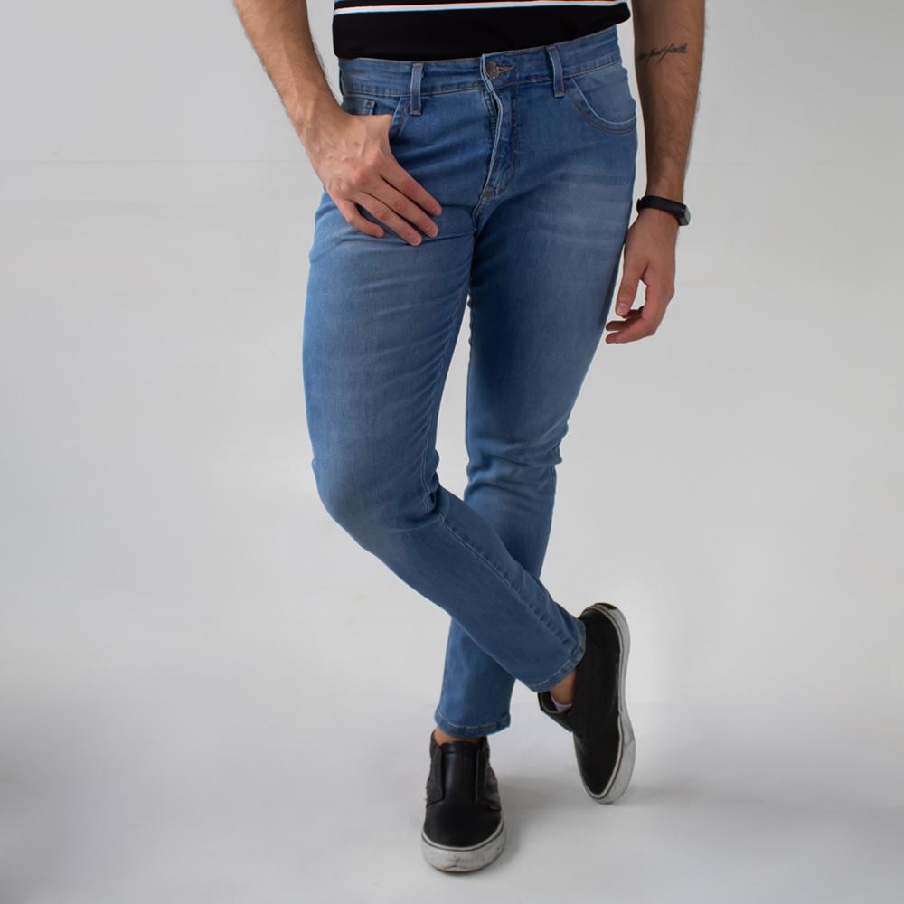 Calça Super Skinny Masculina Jeans Puídos Elastano Anticorpus