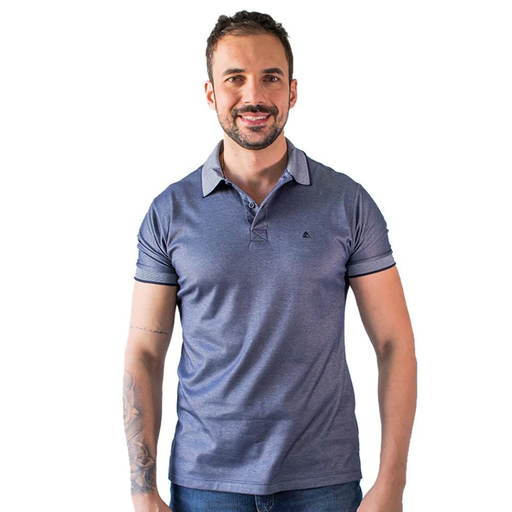 Camisa Polo Masculina Manga Curta Algodão Elastano Anticorpus