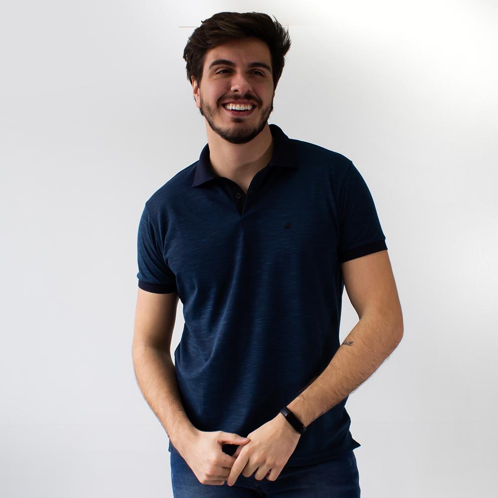Camisa Polo Piquet Rajada Masculina  Várias Cores Anticorpus