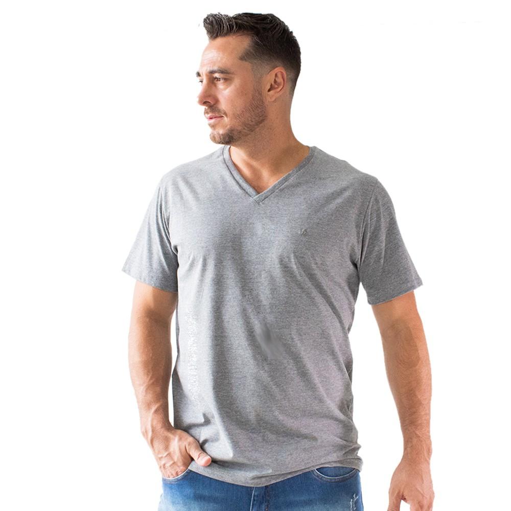Camiseta Masculina Básica Gola V Manga Curta Algodão Anticorpus