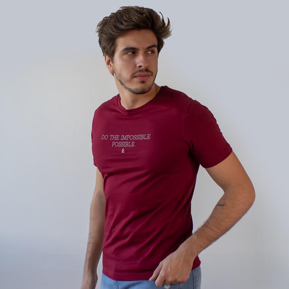 Camiseta Masculina Estampa Do The Impossible Possible Anticorpus