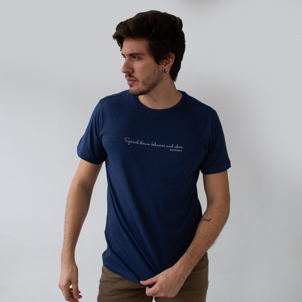Camiseta Masculina Flamê Marinho Branco Vinho Anticorpus