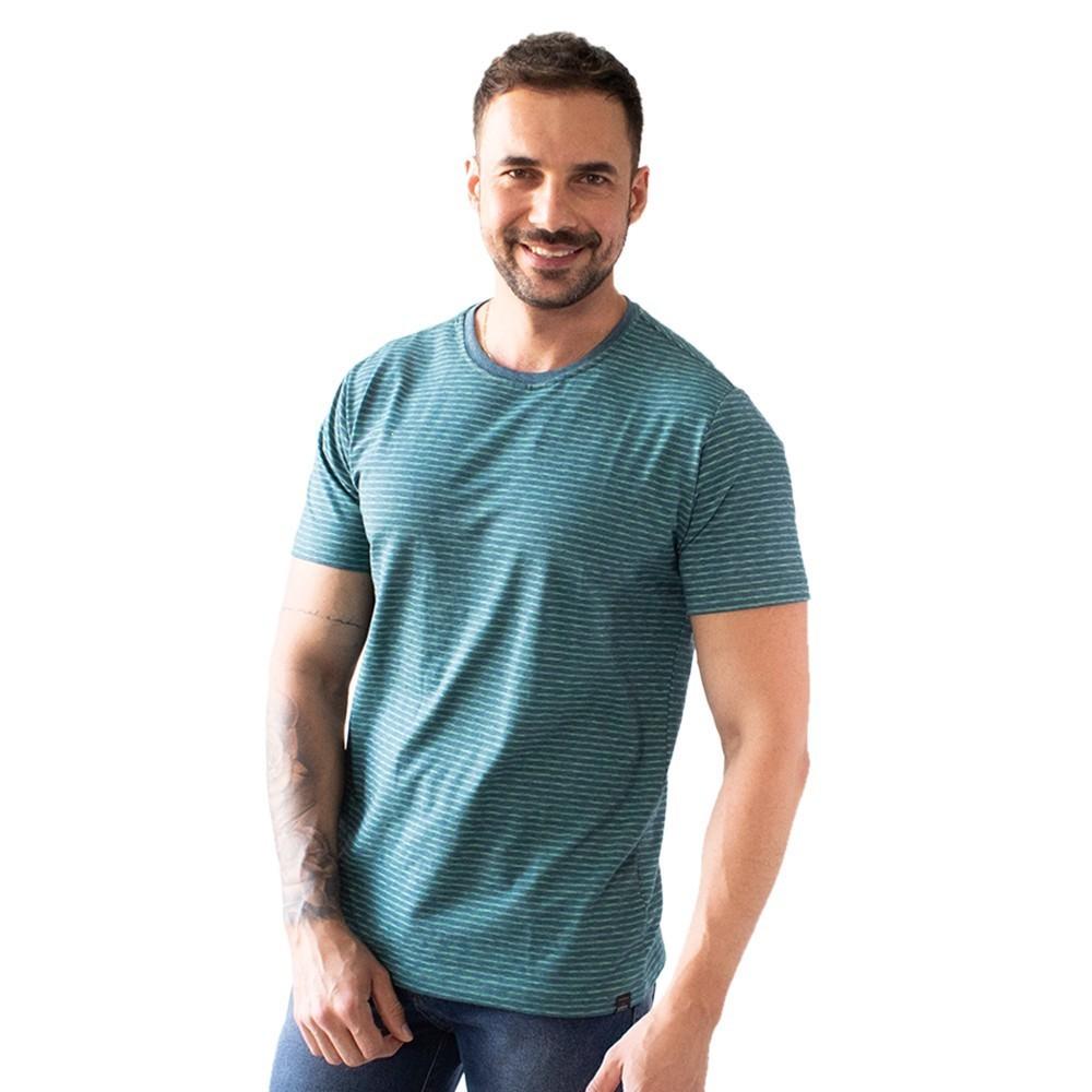 Camiseta Masculina Malha Listrada Várias Cores Anticorpus