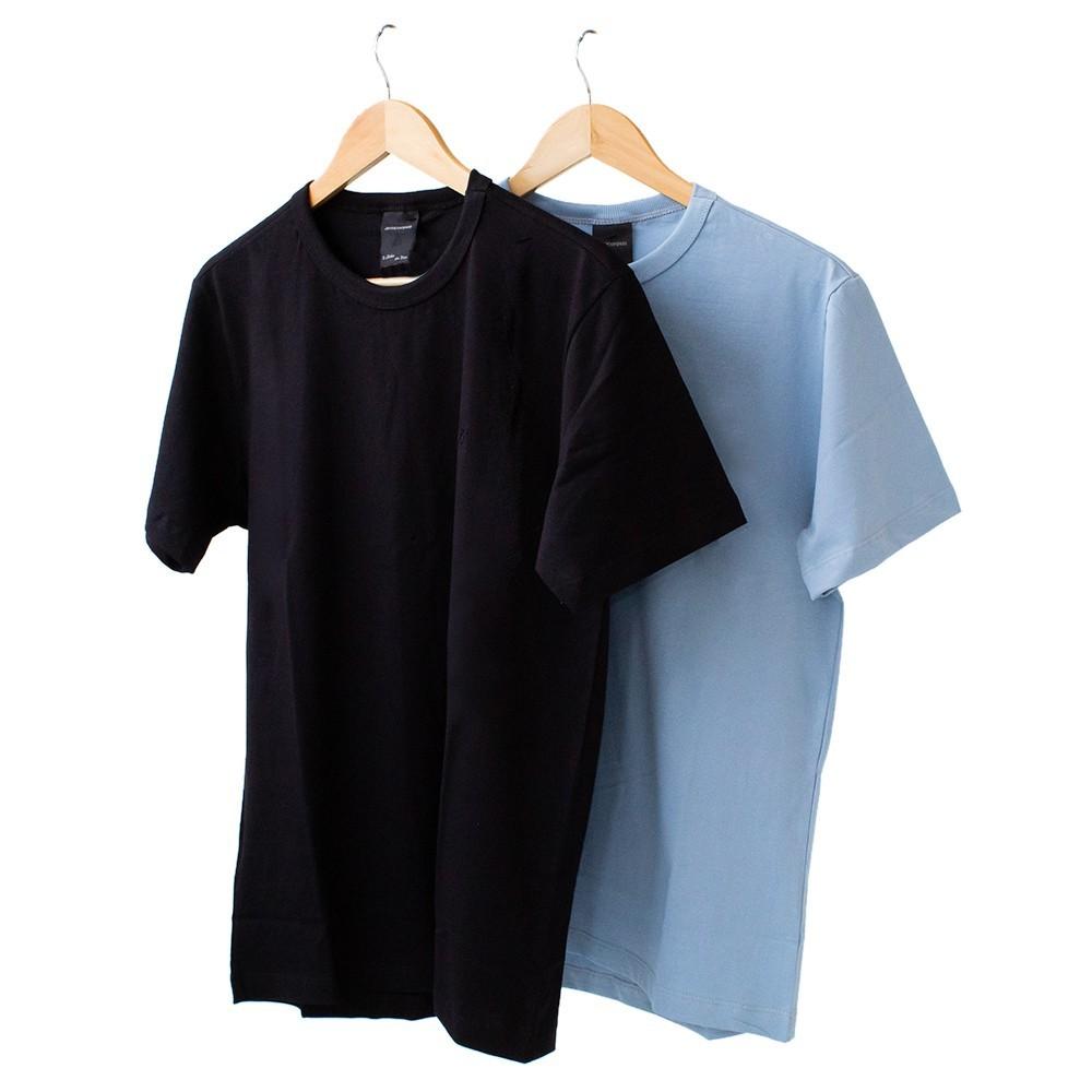 Kit 2  Camiseta Masculina Básica Manga Curta Algodão Anticorpus
