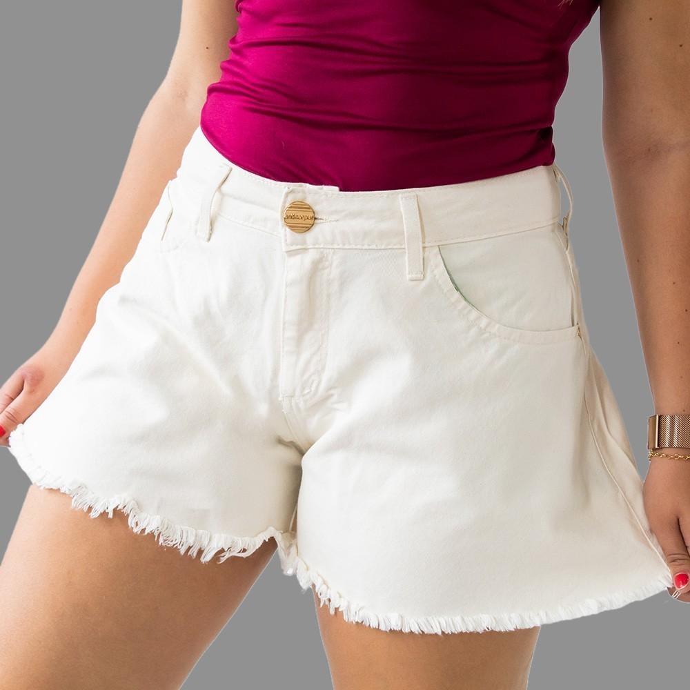 Short Godê Jeans Cru Feminino Cintura Alta Anticorpus
