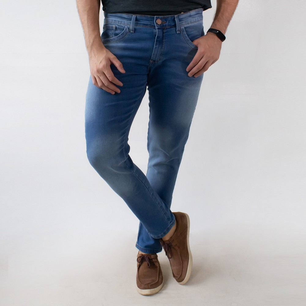 Calça Jeans Skinny Masculina Forro Anticorpus