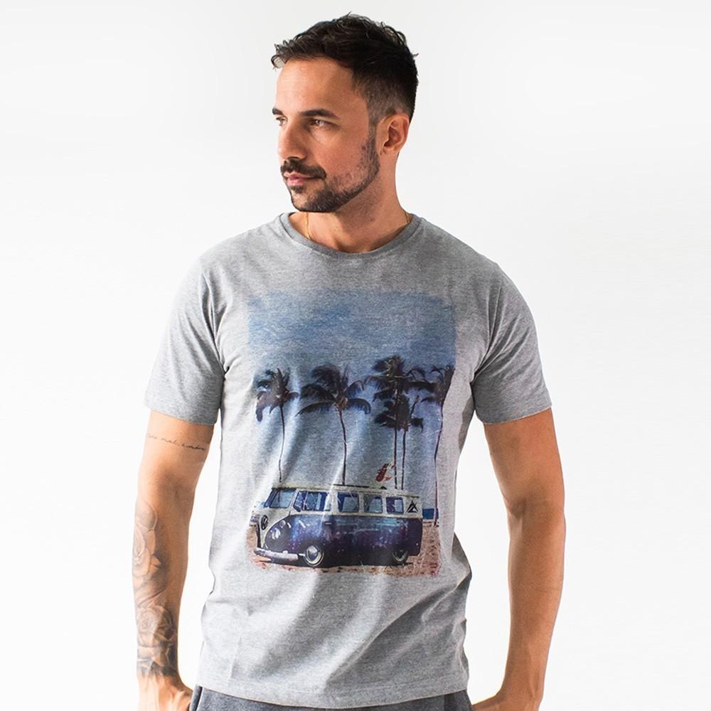 T-Shirt Masculina Estampa Kombi Praia Várias Cores Anticorpus
