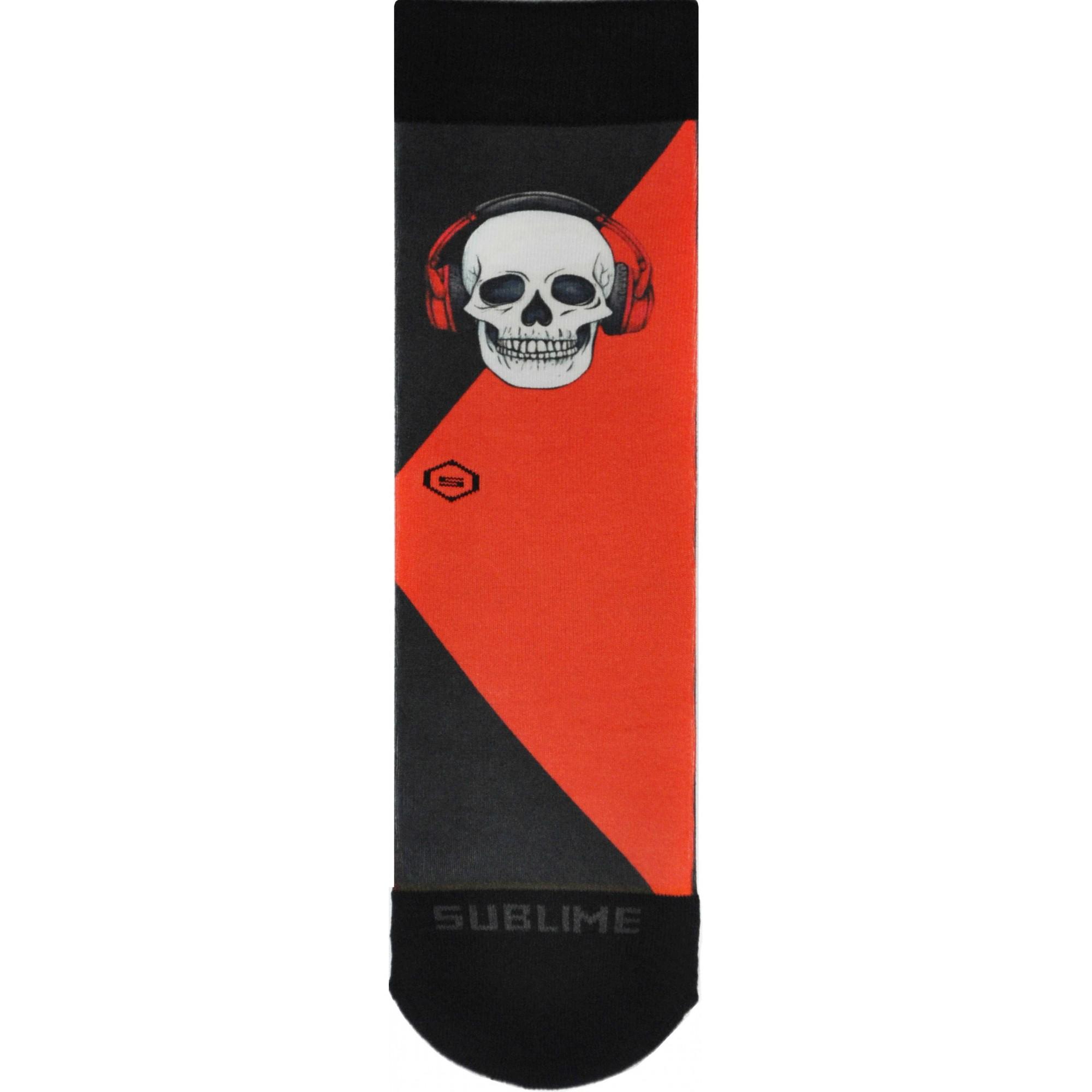 Meia Sublime Fone Skull