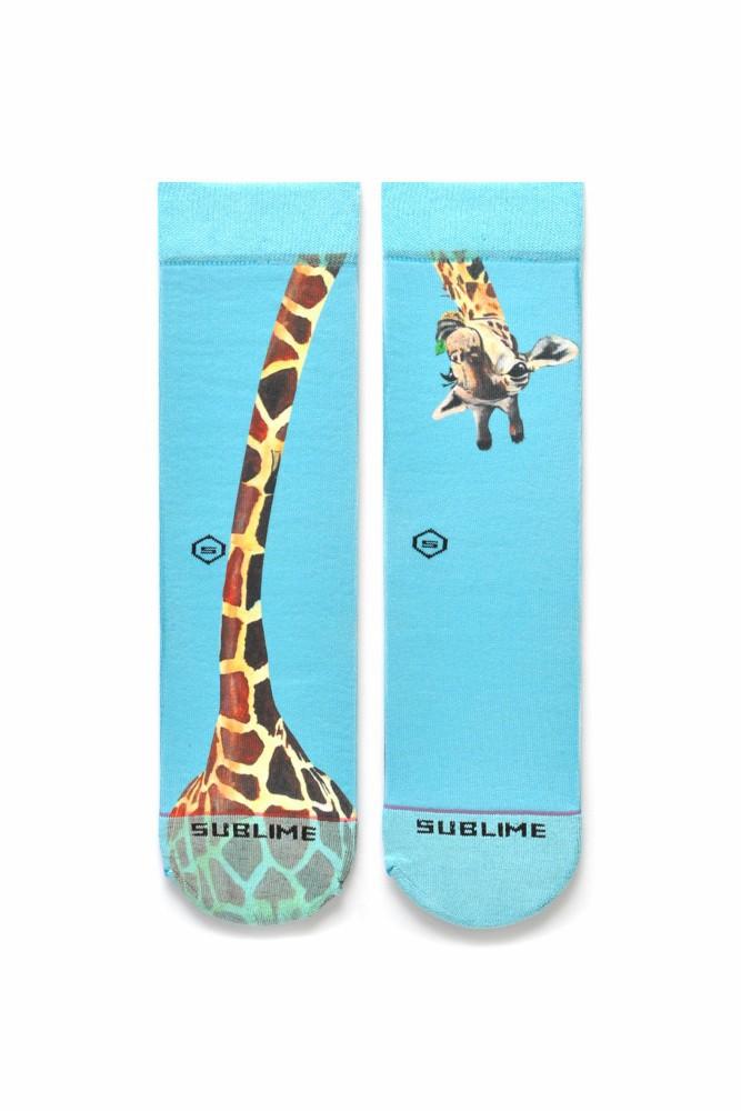 Meia Sublime Girafa Curiosa