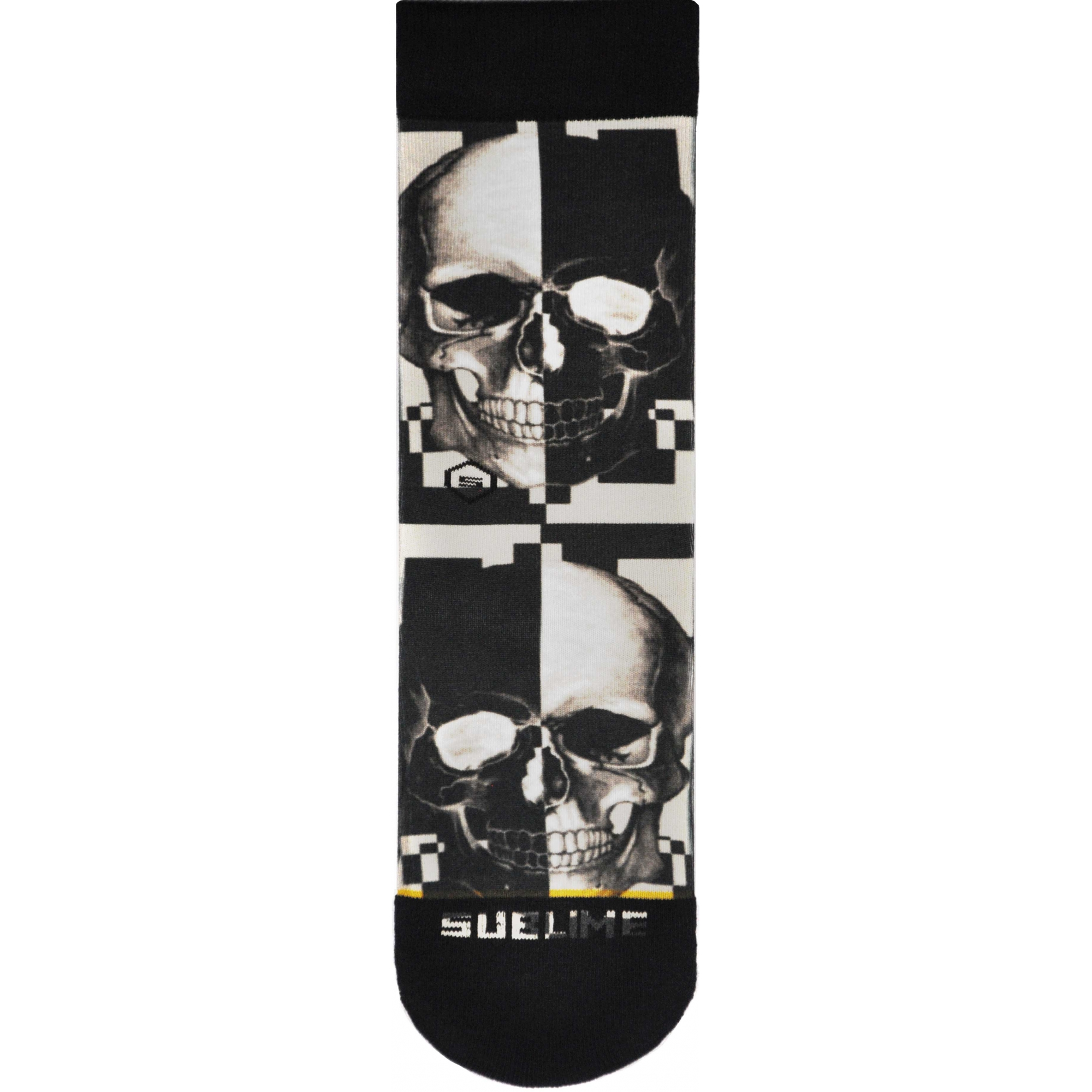 Meia Sublime P&B Skull