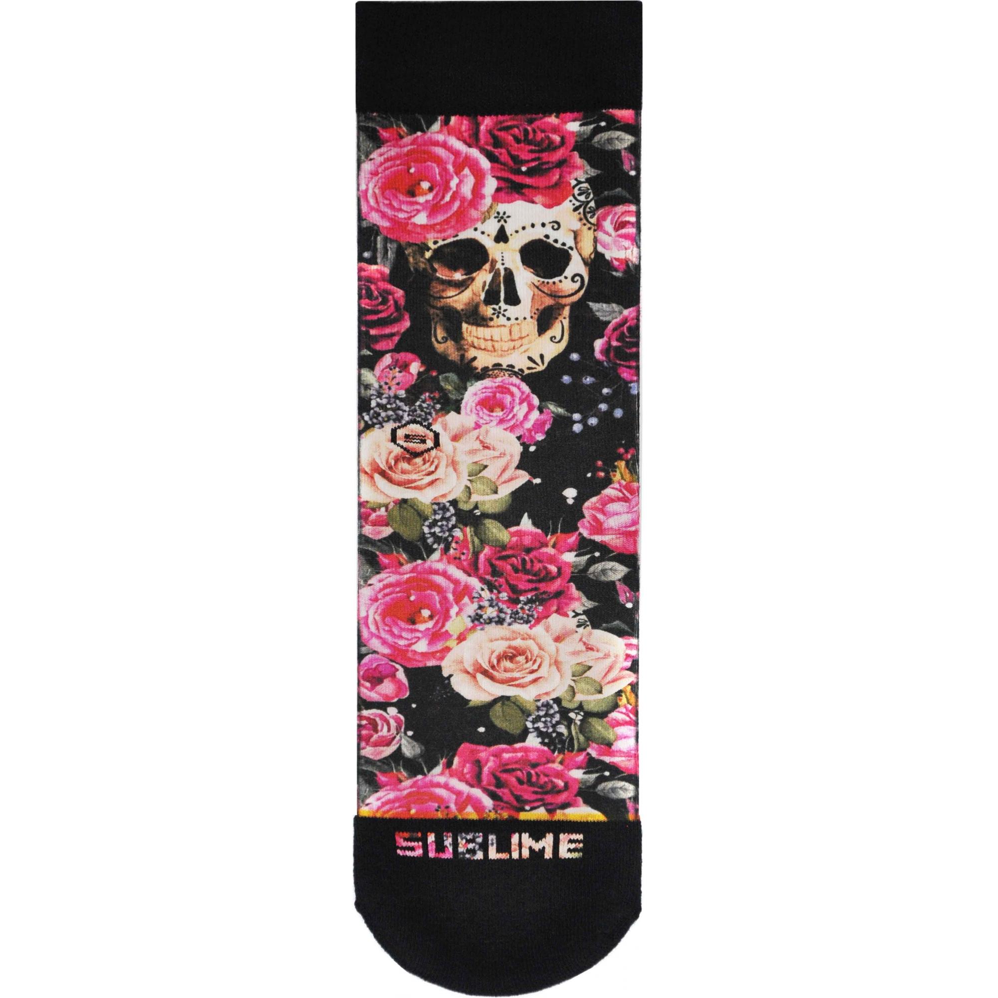 Meia Sublime Skull Roses