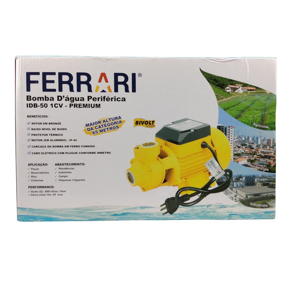 Motobomba FERRARI Monofásica IDB-50 1.0CV 127/220V