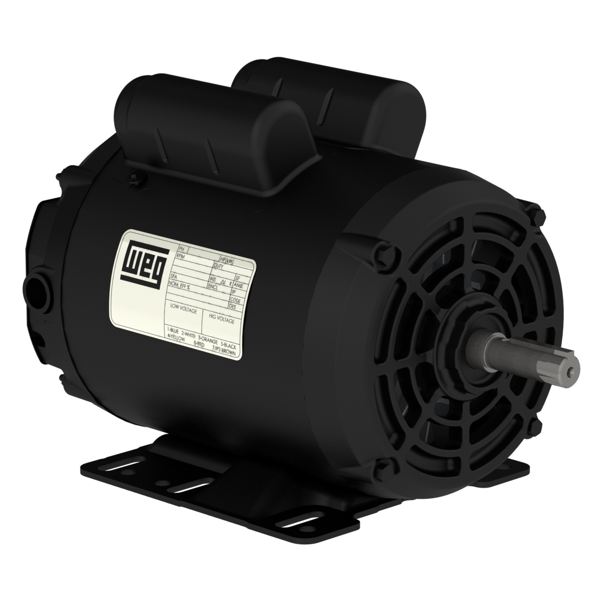 Motor WEG Monofásico IP21 NEMA 2.0CV 4 Polos 127/220V