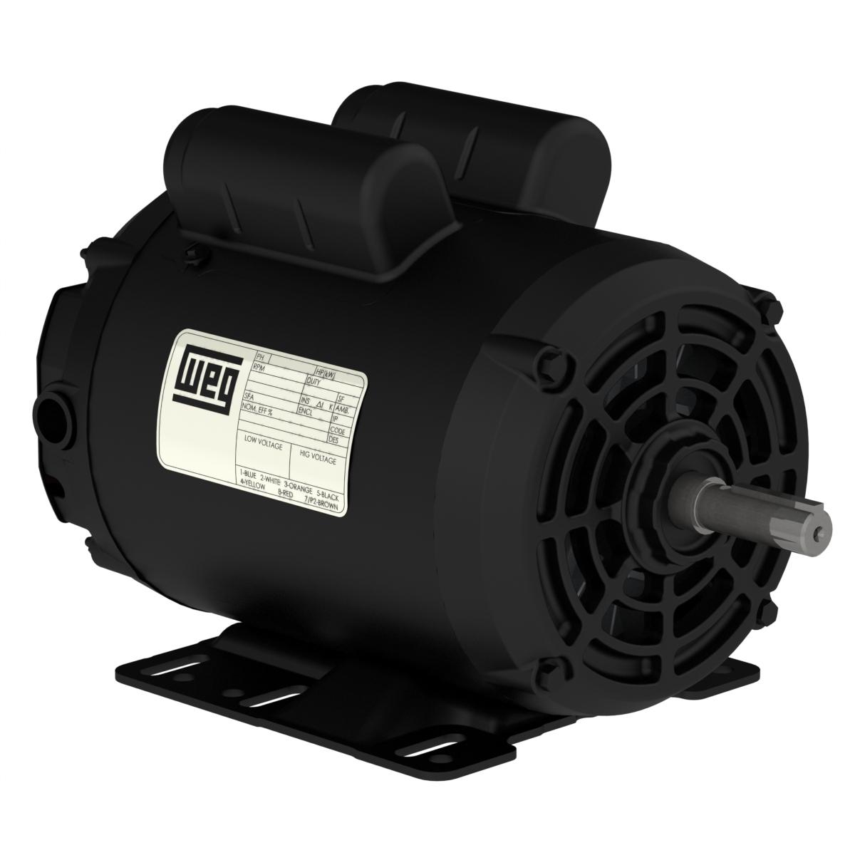 Motor WEG Monofásico IP21 NEMA 3.0CV 4 Polos 127/220V