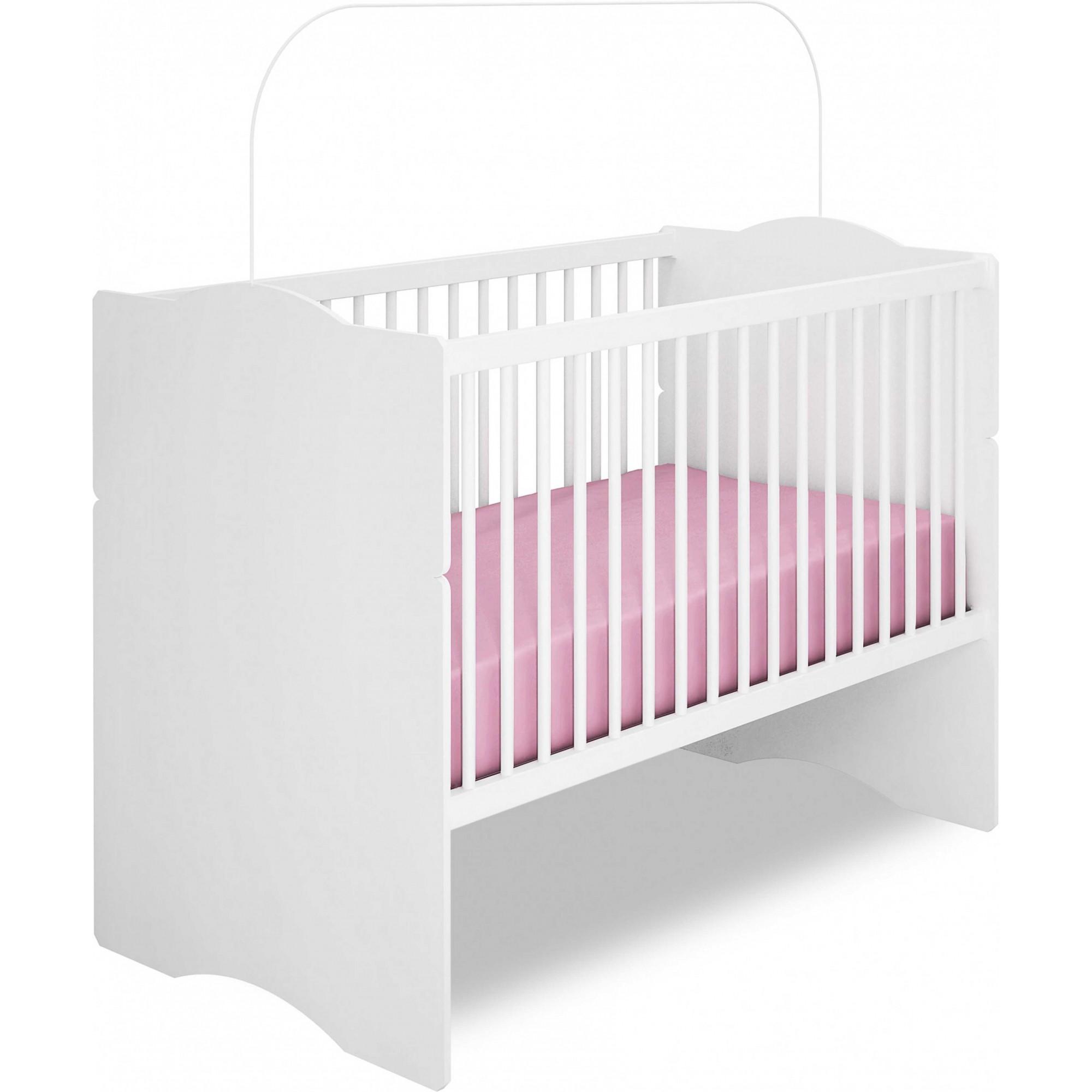 Berço Mini Cama Alegria - Canaã Móveis + 1 Papel de Parede Infantil GRÁTIS de Sua Escolha