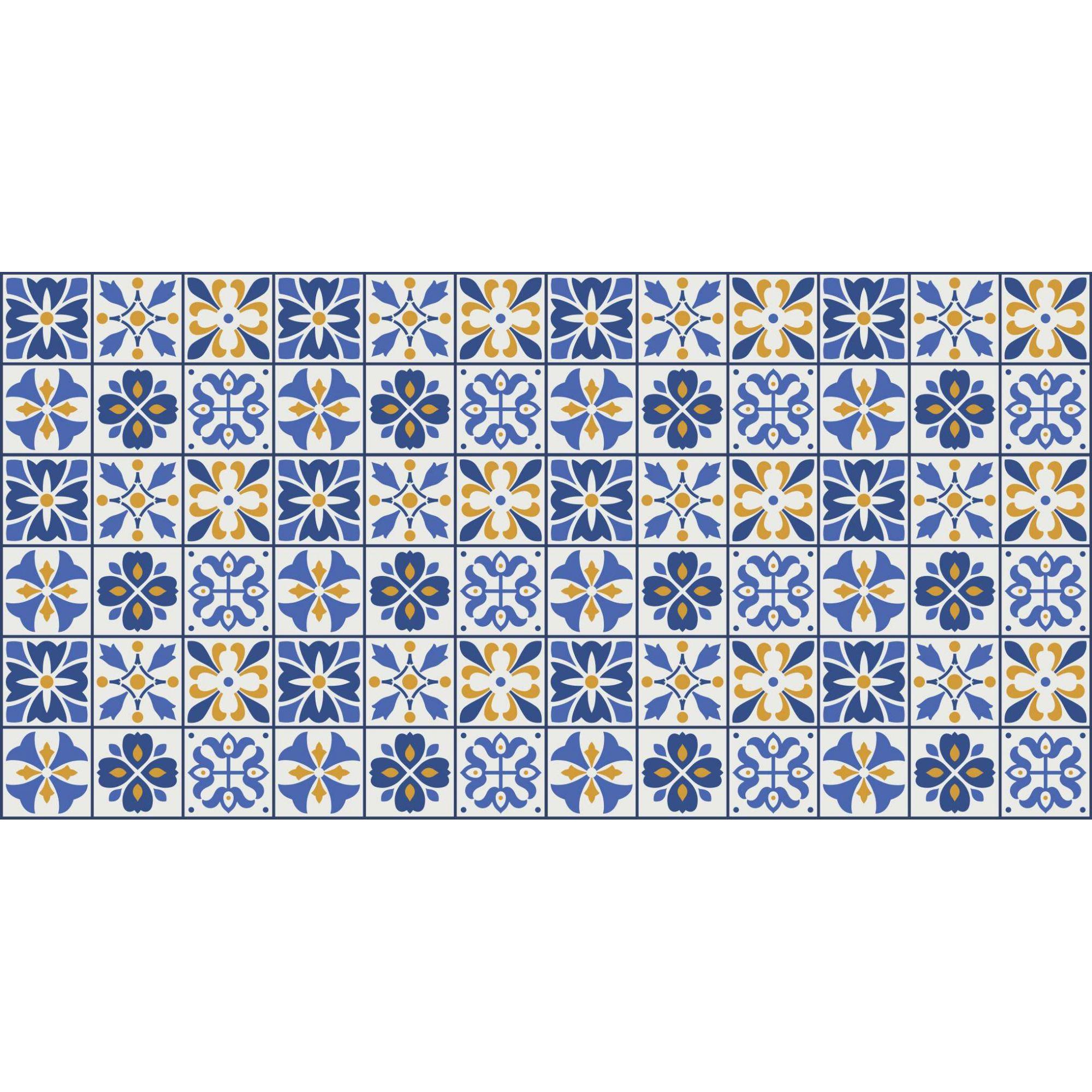 Papel de Parede Autocolante Azulejo Fundo Branco