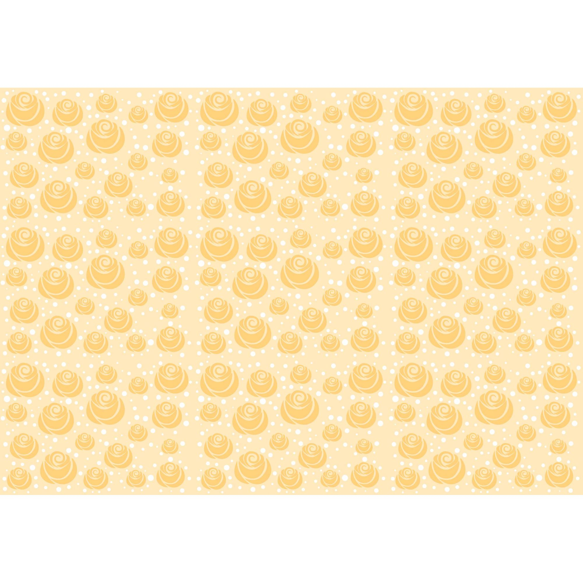 Papel de Parede Autocolante Clássico Amarelo