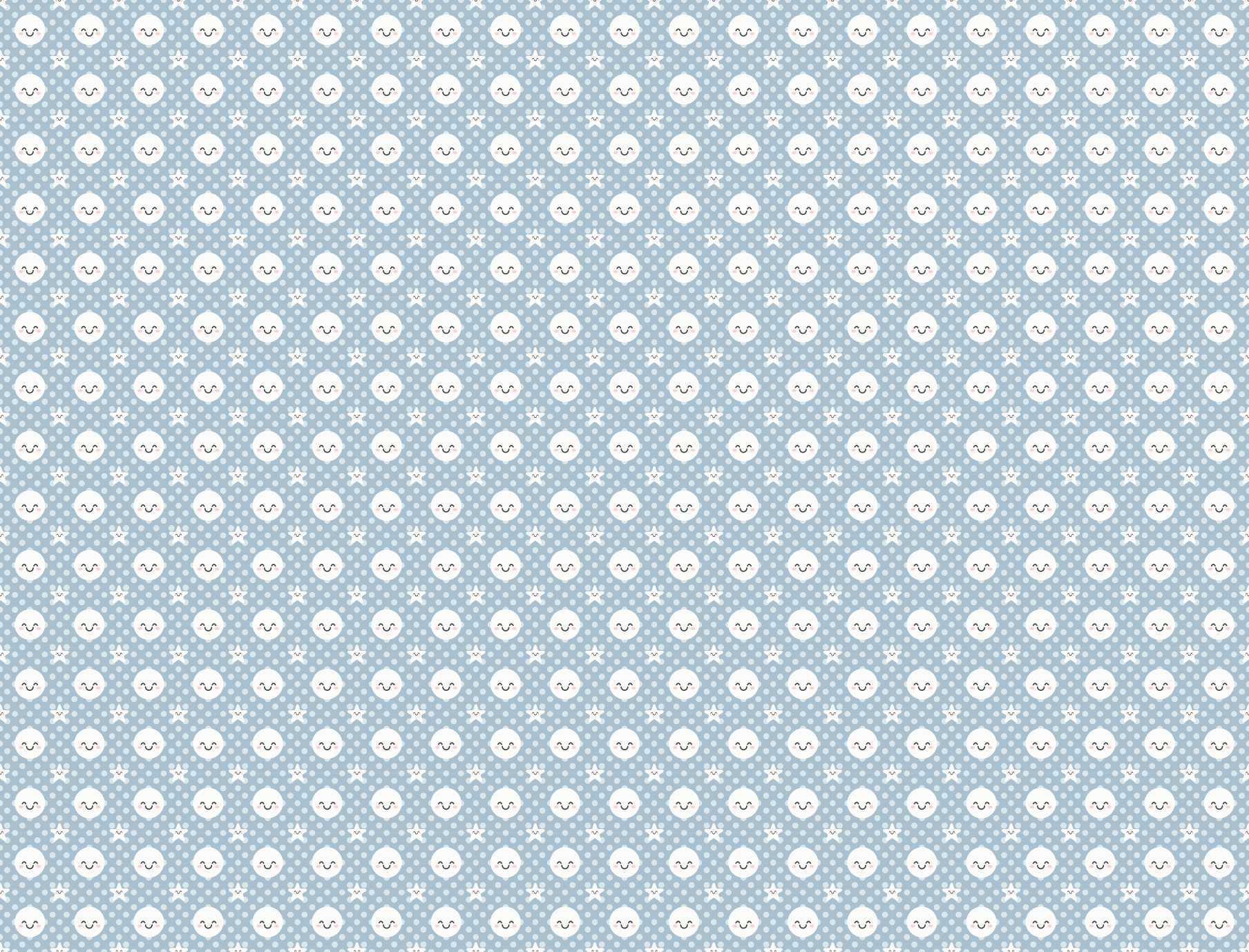 Papel de Parede Autocolante Floral Fundo Azul