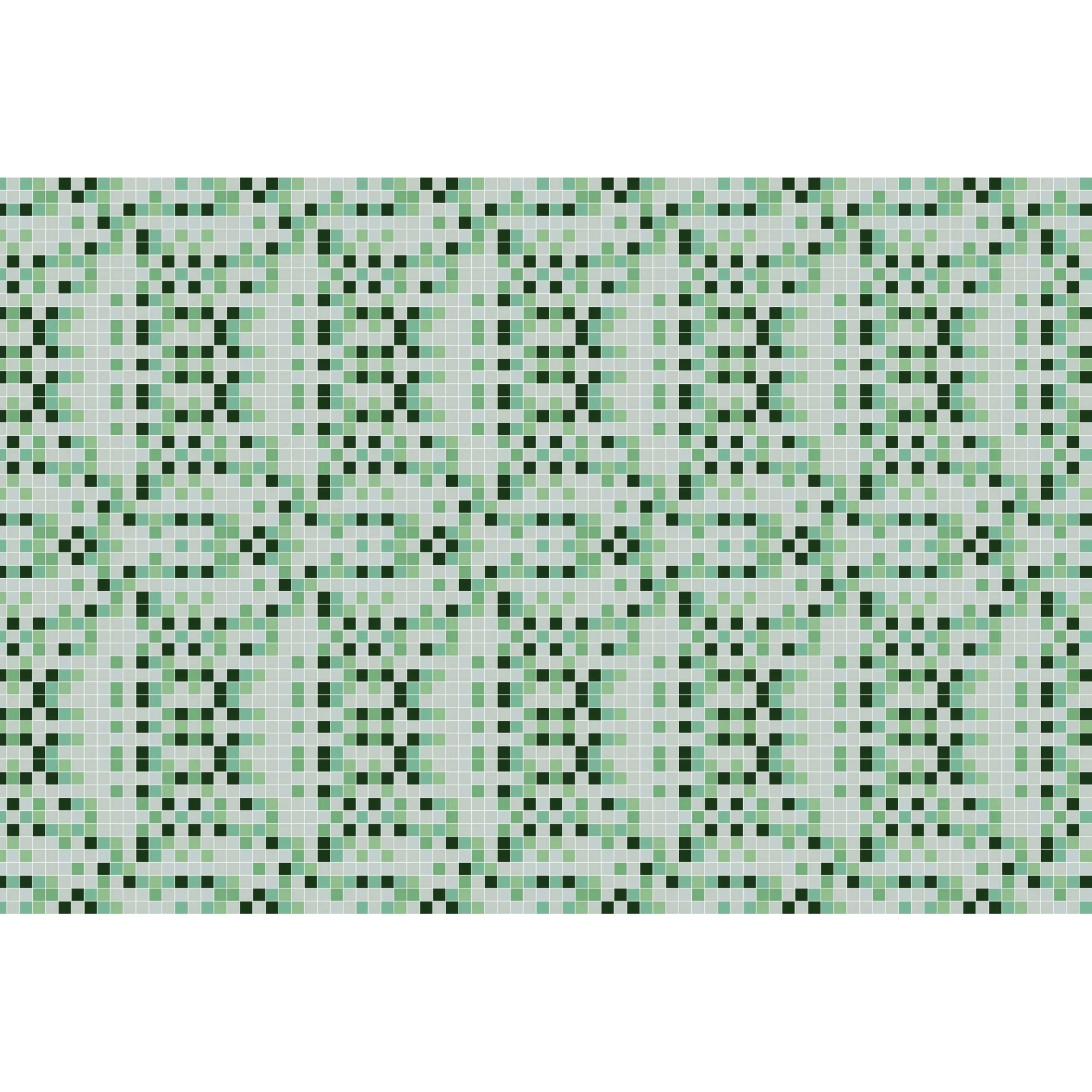 Papel de Parede Autocolante Pastilha Verde Mesclado