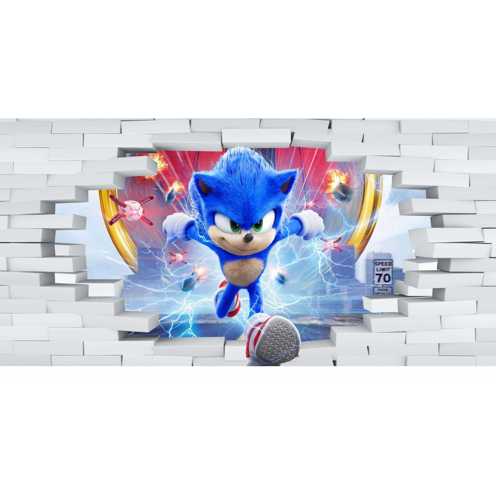 Papel de Parede Autocolante Sonic