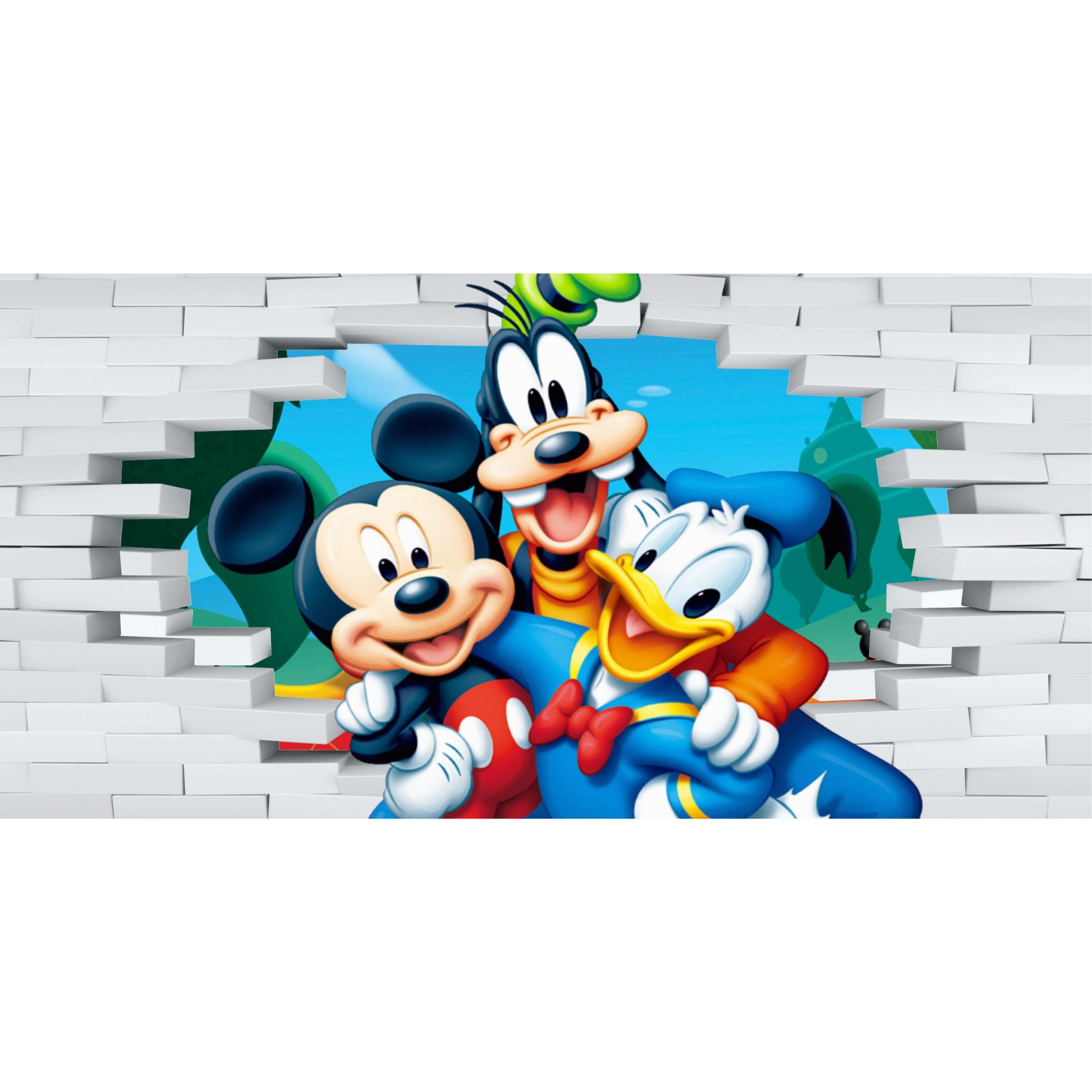 Papel de Parede Autocolante Turma do Mickey