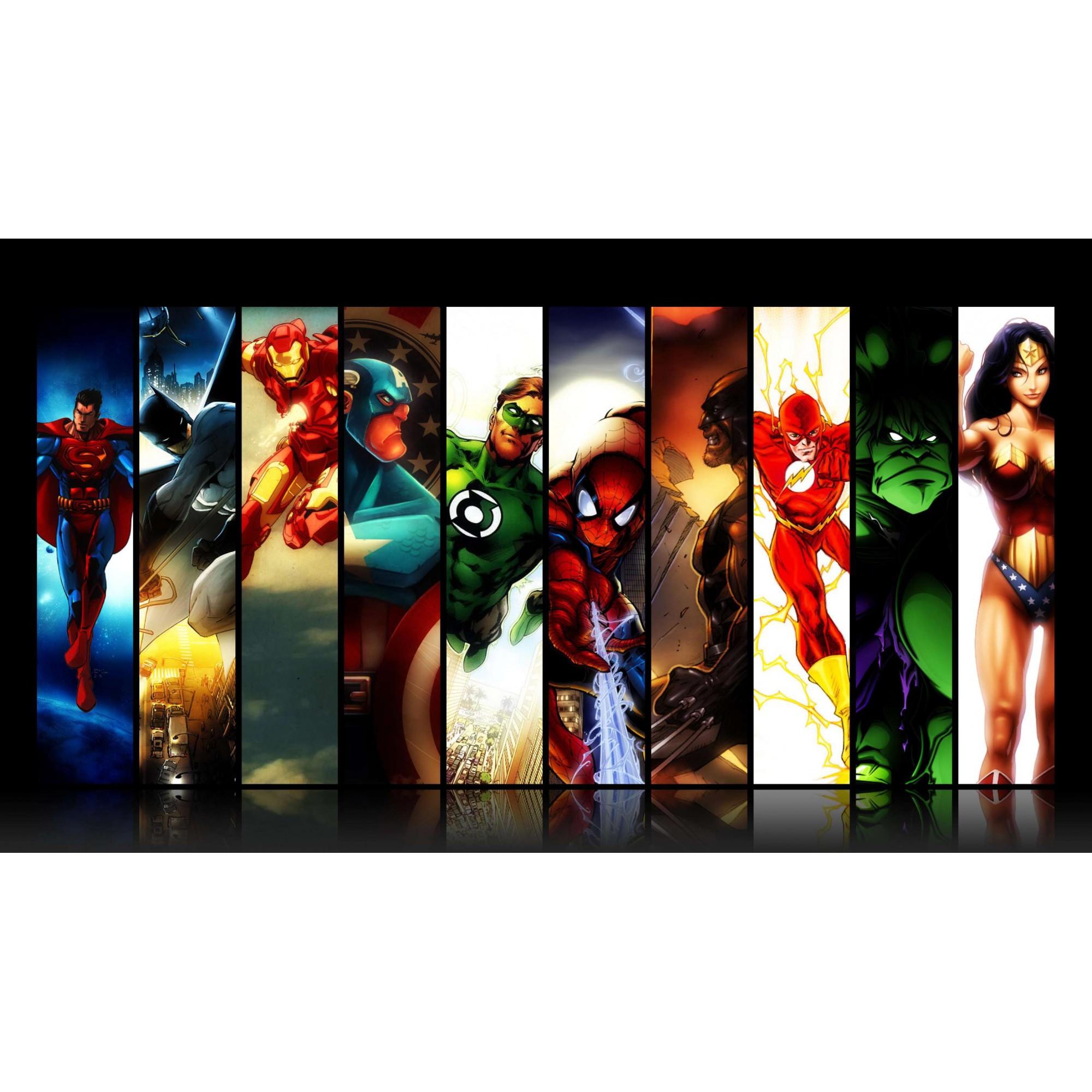 Papel de Parede Autocolante Super-Heróis