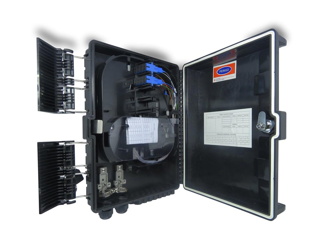 CTO 1x8 UPC - Montada com um splitter 1x8 sc/upc e adaptadores