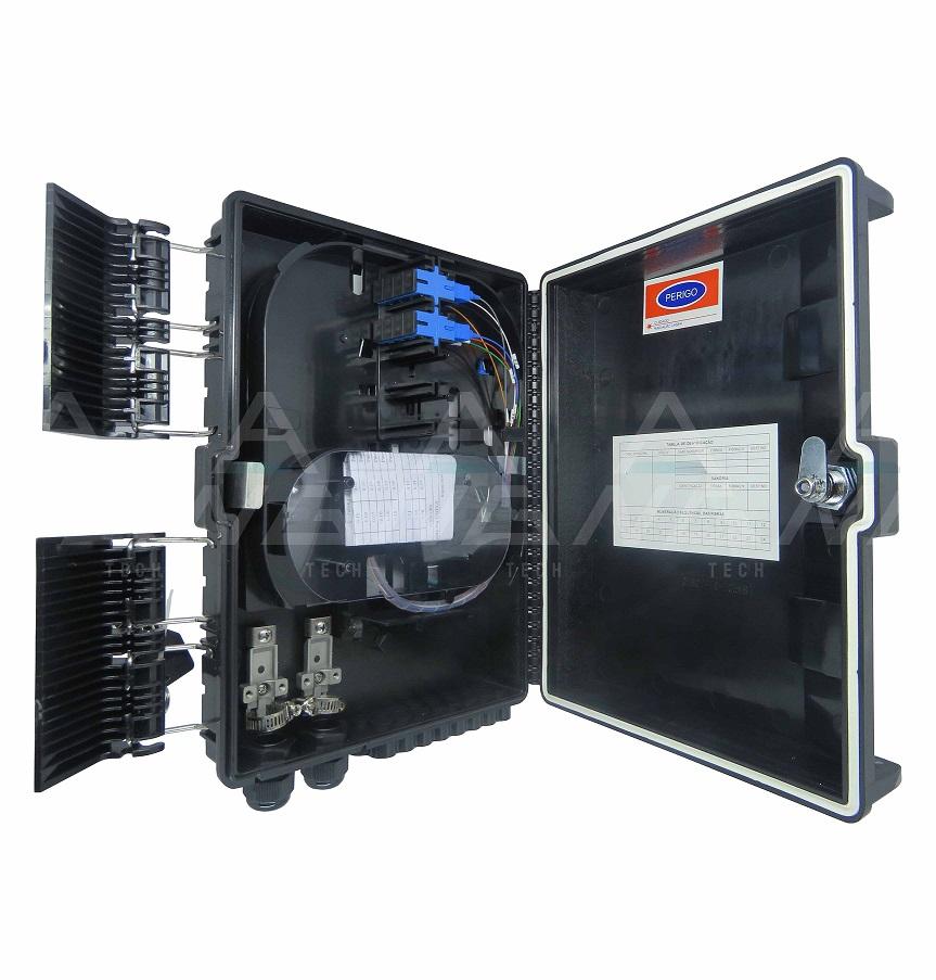 CTO 1x8 UPC - Montada com um splitter 1x8 SC/APC e adaptadores