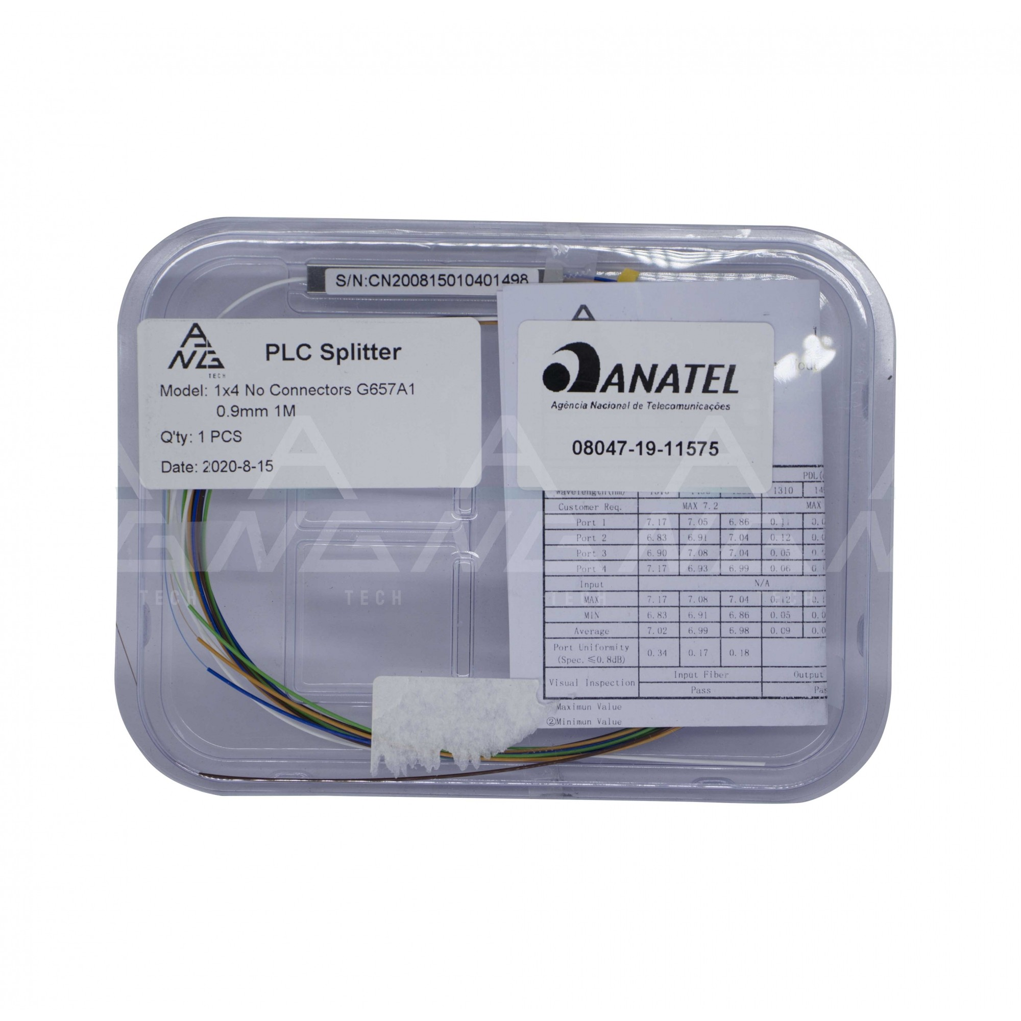 Splitter Óptico 1.8 - Sem conector PLC