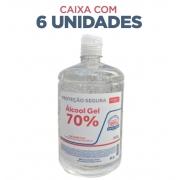 Álcool Gel 70% Antisséptico (PUMP) frascos de 880g - caixa c/ 6 unidades