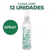 Álcool Líquido 200ml 70% Antisséptico Spray 12 unidades com hidratante