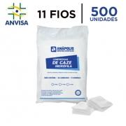 Compressa de Gaze Hidrófila Não Estéril 11 fios pacote com 500 unidades