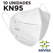 Máscara kn95 - E-VIPO - pacote com  10 unidades 5 camadas meltblow BFE 98% + feltro de coton + tnt spunbond hospitalar hipoalergenico