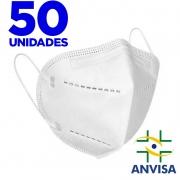 Máscara N95/PFF2/KN95 - EXMEDI - caixa com 50 unidade  meltblow BFE 98% + feltro de coton + tnt spunbond hospitalar hipoalergenico