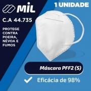 Máscara PFF2 c/ C.A 44.735 - Registro no Ministério do Trabalho - Pacote com 1 unidade