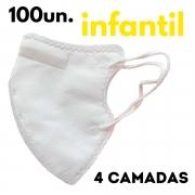Máscara PFF2/N95 infantil branca - 100 unidades