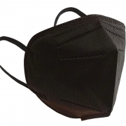 Máscara pff2/n95 preta adulto pacote 40 unidades