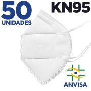 Máscara respirador KN95 - pacote 50 unidades