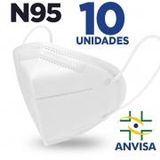 Máscara respirador N95/PFF2 - CAIXA 10 unidades Feltro de Cotton e Meltblown
