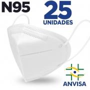 Máscara respirador N95 - pacote 25 unidades