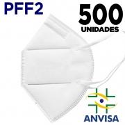 Máscara Respirador PFF2/N95 similar KN95  adulto branca - 10 pacotes de 50 unidades