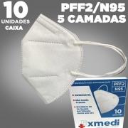 Máscara respirador PFF2 N95 - 5 camadas de proteção - pacote 10 unidades