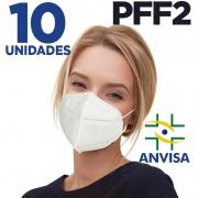 Máscara respirador PFF2 - Pacote 10 unidades