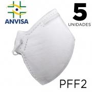 Máscara Respirador PFF2 pacote 5 unidades - ANVISA 82167630001
